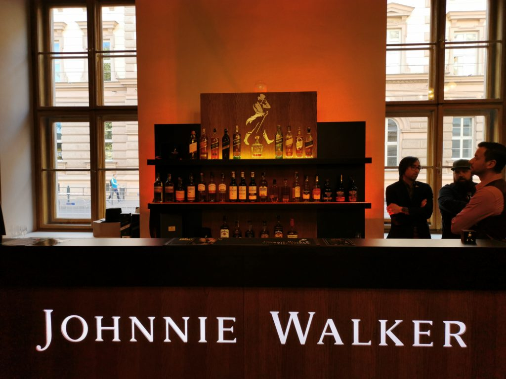 Se svou nabídkou dorazily i velké značky jako Johnnie Walker...