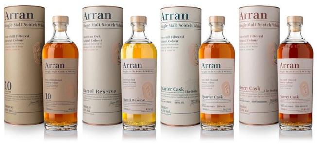 Nová whisky Základní řada Arran