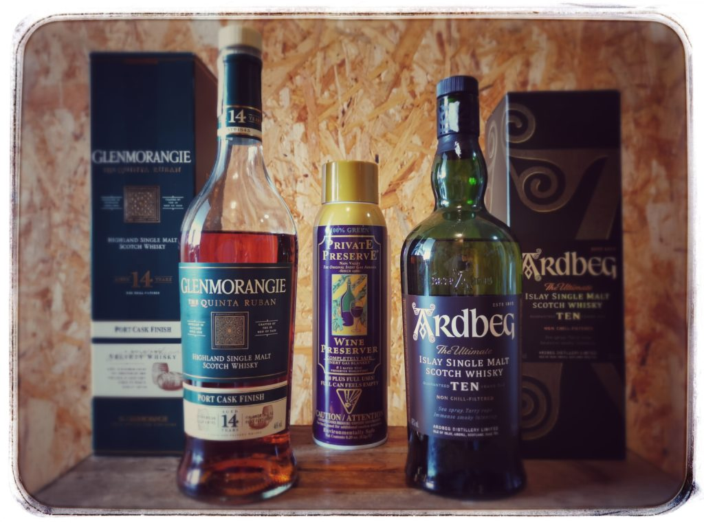 Oxidace whisky - pokusné objekty