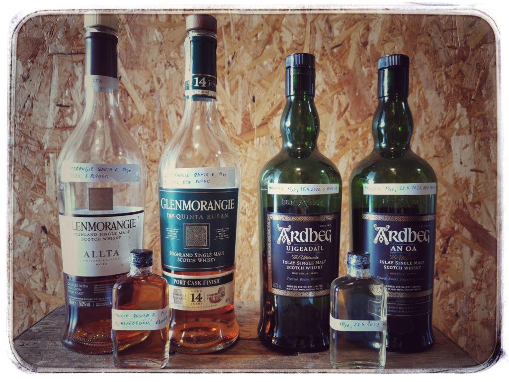 Oxidace whisky - výsledná sestava