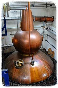 Destilační kotel v palírna Pulteney