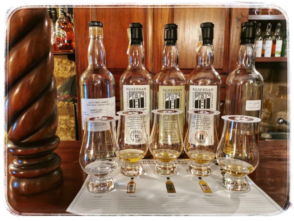 Degustace Springbank whisky Kilerran