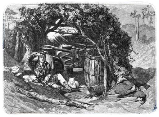 historie skotské whisky - Nelegální pálení na Skotské vysočině