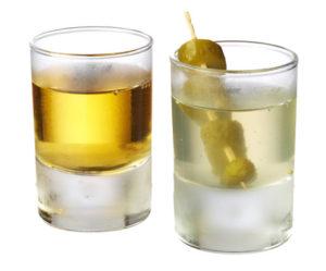 Whisky koktejly Pickleback