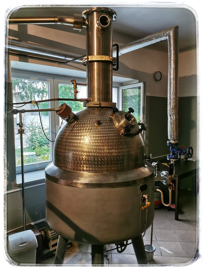 Palírna Tosh destilační kotel