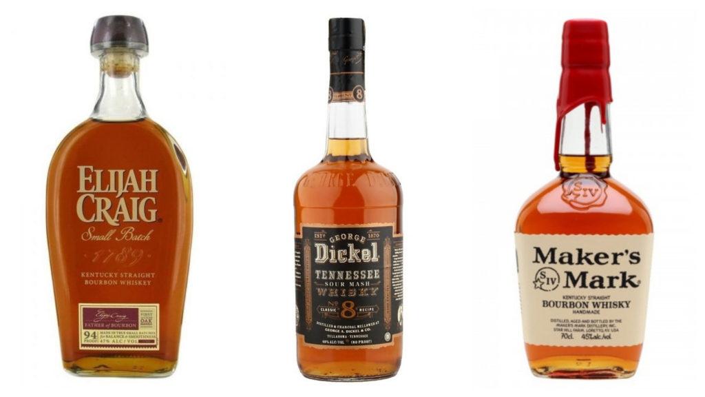 Americká whiskey průvodce v příkladech